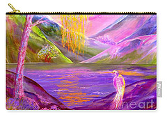 Silent Waters, Silver Birch And Egret Carry-all Pouch