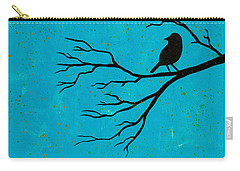 Silhouette Blue Carry-all Pouch