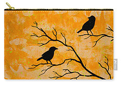 Silhouette Orange Carry-all Pouch by Stefanie Forck