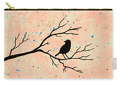 Silhouette Pink Carry-all Pouch