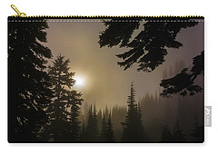 Silhouettes Of Trees On Mt Rainier II Carry-all Pouch