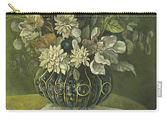 Silk Floral Arrangement Carry-all Pouch by Marlene Book