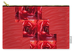 Carry-all Pouch featuring the photograph Silken Red Sparkles Redrose Across by Navin Joshi