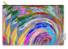 Colorful Fineart Silken Spiral Waves Pattern Decorative Art By Navinjoshi At Fineartamerica.com Carry-all Pouch