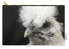Silkie Chicken Portrait Carry-all Pouch by Jeannette Hunt