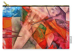Silky Abstract Carry-all Pouch by Catherine Lott