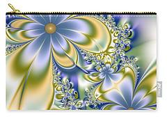 Carry-all Pouch featuring the digital art Silky Flowers by Svetlana Nikolova