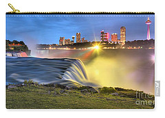 Silky Niagara Falls Panoramic Sunset Carry-all Pouch by Adam Jewell