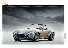 Carry-all Pouch featuring the digital art Silver Ac Cobra by Douglas Pittman