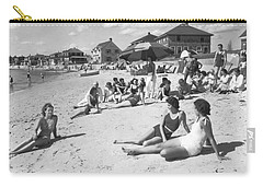 Silver Beach On Cape Cod Carry-all Pouch by Underwood Archives