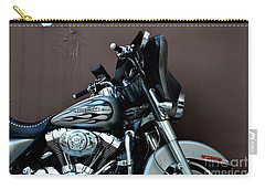 Carry-all Pouch featuring the photograph Silver Harley Motorcycle by Imran Ahmed