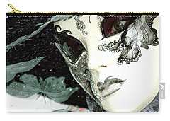 Silver Lacy Eyes Carry-all Pouch by Donna Corless