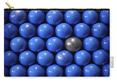 Silver Lost  In Blue Carry-all Pouch by Danuta Bennett