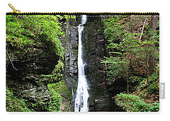 Carry-all Pouch featuring the photograph Silver Thread Falls by Trina  Ansel