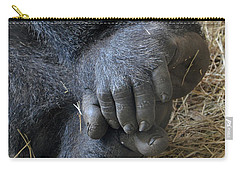 Carry-all Pouch featuring the photograph Silverback Toes by Robert Meanor