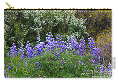 Carry-all Pouch featuring the photograph Silvery Lupine Black Canyon Colorado by Janice Rae Pariza