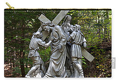 Simon Helps Jesus Carry-all Pouch