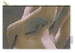 Carry-all Pouch featuring the painting Simply Naked by Dragica  Micki Fortuna