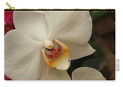 Carry-all Pouch featuring the photograph Cascade Of White Orchids by Dora Sofia Caputo Photographic Art and Design
