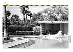 Sinatra Pool And Cabana Bw Palm Springs Carry-all Pouch