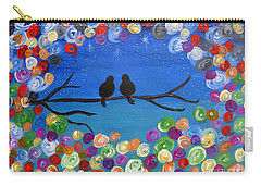 Singing To The Stars Tree Bird Art Painting Print Carry-all Pouch