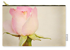 Single Baby Pink Rose Carry-all Pouch