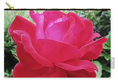 Single Red Rose Carry-all Pouch