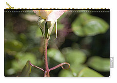 Carry-all Pouch featuring the photograph Single Rose by David Millenheft
