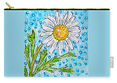 Single Summer Daisy Carry-all Pouch by Kathy Marrs Chandler