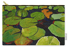Singleton Lily Pads Carry-all Pouch by Phil Chadwick