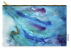 Carry-all Pouch featuring the painting Sinking by Anna Ruzsan