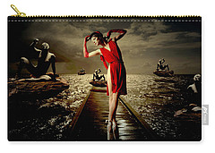 Carry-all Pouch featuring the digital art Siren by Galen Valle