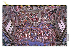 Carry-all Pouch featuring the photograph Sistine Chapel by Allen Beatty