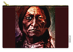 Carry-all Pouch featuring the painting Sitting Bull - Warrior - Medicine Man by Hartmut Jager
