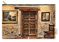 Sitting By The Door By Diana Sainz Carry-all Pouch