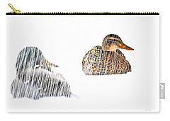 Sitting Ducks In A Blizzard Carry-all Pouch by Bob Orsillo