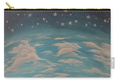 Carry-all Pouch featuring the painting Sitting On Top Of The World by Thomasina Durkay