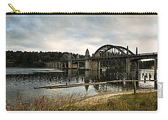 Siuslaw River Bridge Carry-all Pouch by Belinda Greb