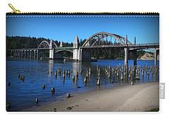 Carry-all Pouch featuring the photograph Siuslaw River Bridge Oregon by Nick Kloepping