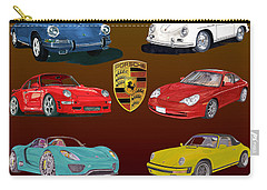 Six Sexy Slippery Porsche Automobiles Carry-all Pouch