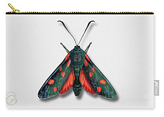 Six Spot Burnet Butterfly - Zygaena Filipendulae Naturalistic Painting - Nettersheim Eifel Carry-all Pouch