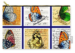 Sixteen Butterflies Carry-all Pouch by Marian Cates