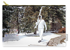 Carry-all Pouch featuring the photograph Ski Trooper by Fiona Kennard
