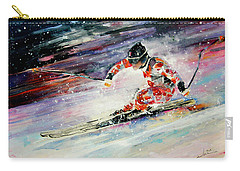 Skiing 01 Carry-all Pouch by Miki De Goodaboom