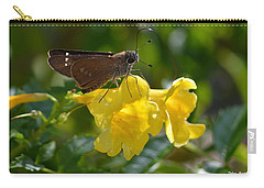 Carry-all Pouch featuring the photograph Skipper Butterfly 2 by Debra Martz