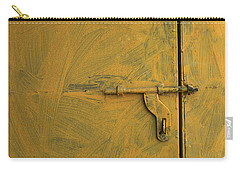 Carry-all Pouch featuring the photograph Skc 0047 The Door Latch by Sunil Kapadia