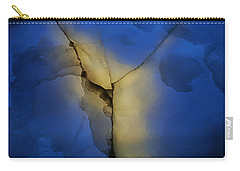 Skc 0243 Cracked Y Carry-all Pouch by Sunil Kapadia