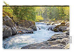 Skutz Falls At Cowichan River Provincial Park Carry-all Pouch