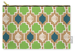 Sky And Sea Tile Pattern Carry-all Pouch