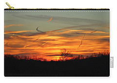 Sky At Sunset Carry-all Pouch by Cynthia Guinn